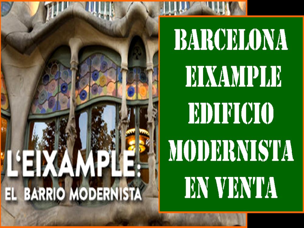 BARCELONA. EDIFICIO MODERNISTA EN VENTA.