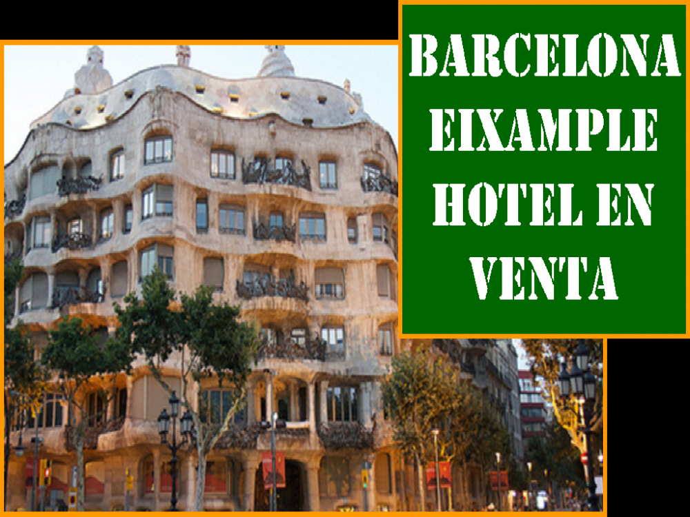 BARCELONA. HOTEL 3 ESTRELLAS EN VENTA.