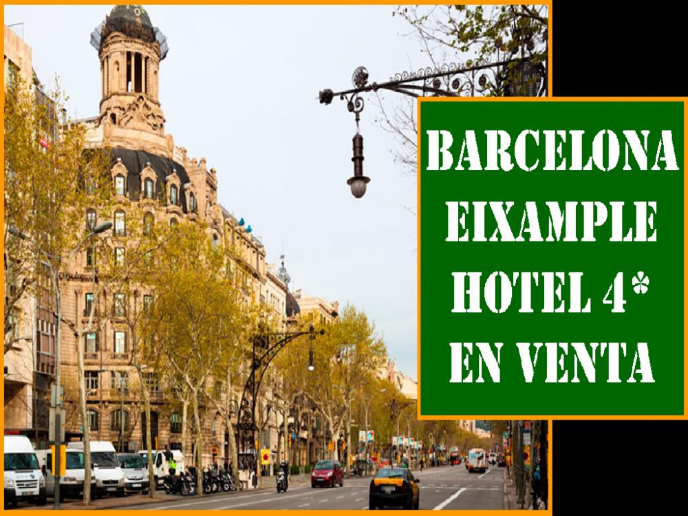 BARCELONA. HOTEL 4 ESTRELLAS EN VENTA.