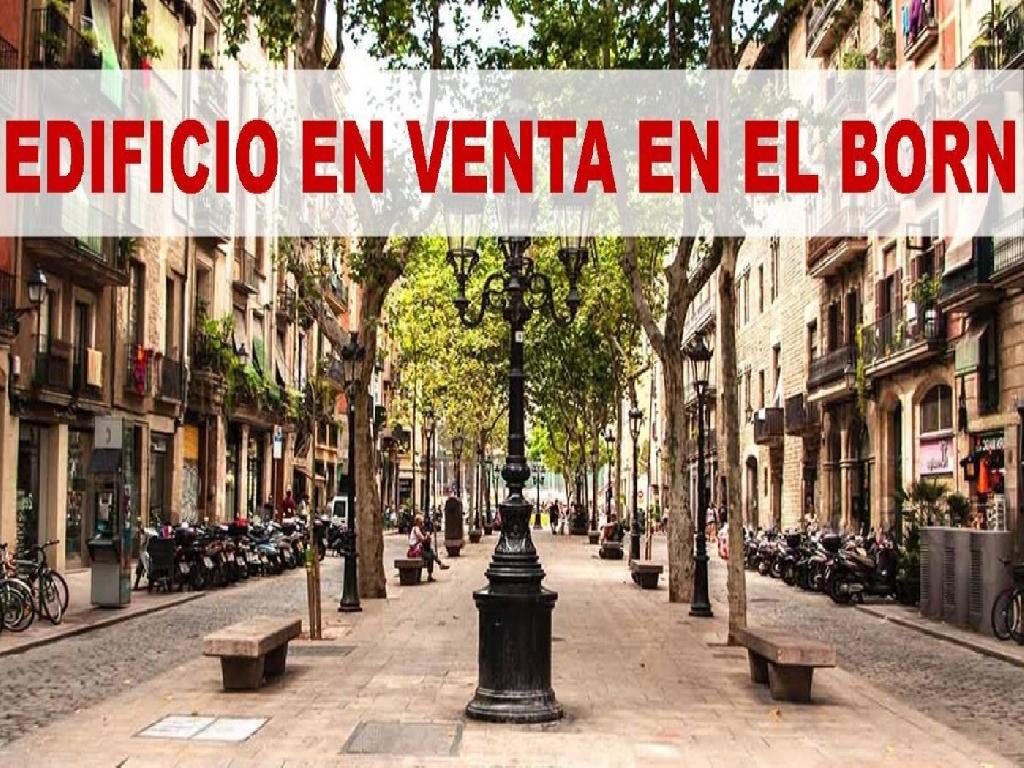 BARCELONA. EDIFICIO EN VENTA. EL BORN.